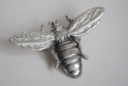 Ladycrow Pewter Brooch Bee